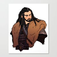 thorin Canvas Prints featuring Thorin by rdjpwns