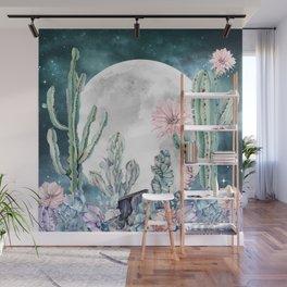 Desert Nights Gemstone Oasis Moon Wall Mural