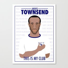 Andros Townsend - This is my club illustration Canvas Print