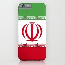 Iran flag emblem iPhone Case
