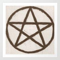 pentagram Art Prints featuring Pentagram by Ria-Ra