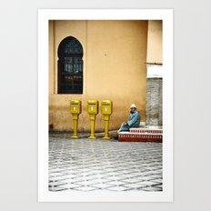 L'homme qui attendait du courrier Art Print