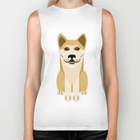 vector Biker Tanks featuring Shiba dog vector by TIERRAdesigner