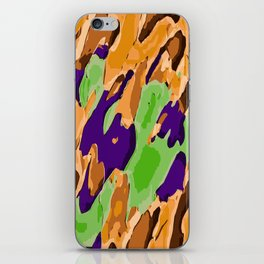 brown purple and green camouflage graffiti painting abstract background iPhone Skin