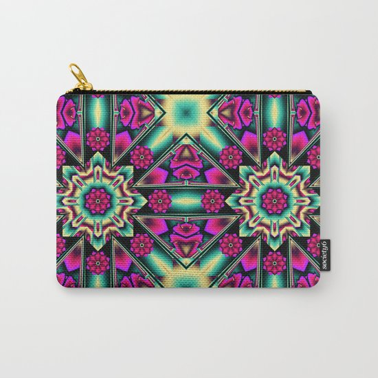 Starry kaleidpscope with fantasy flowers Carry-All Pouch