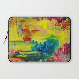 GOING THROUGH THE MOTIONS -  Stunning Saturated Bold Colors Modern Nature Abstract Laptop Sleeve