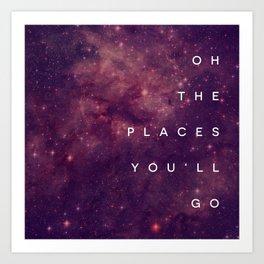The Places You'll Go I Art Print