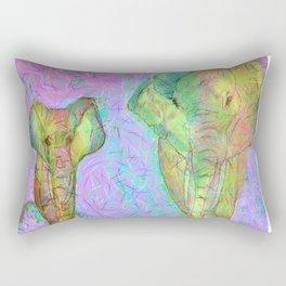 Colored elephants Rectangular Pillow