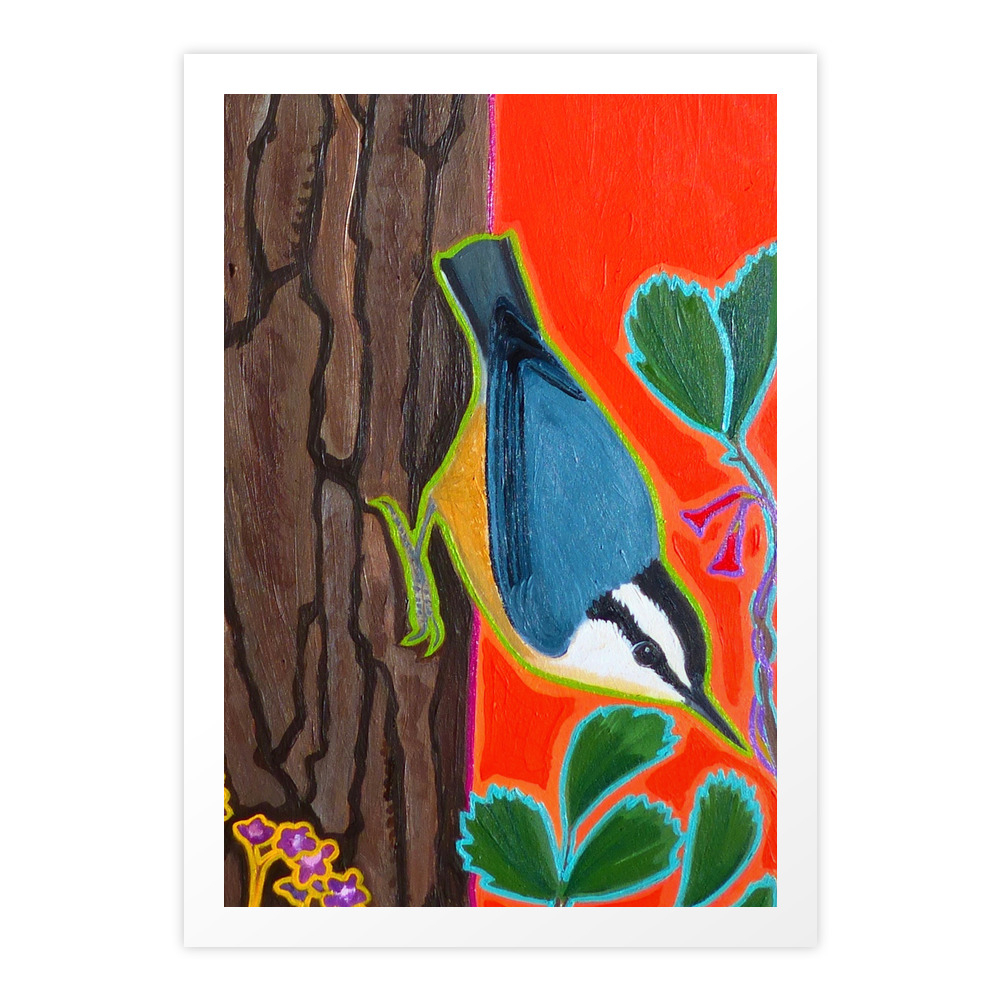 Red Breasted Nuthatch Art Print by wrendreams (PRN10597517) photo