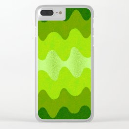 Under the Influence (Marimekko Curves) Eat Your Greens Clear iPhone Case