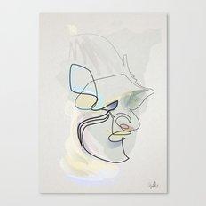 Oneline Samouraï Helmet Canvas Print