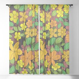 My Flower Design 10 Sheer Curtain