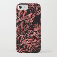 burgundy iPhone & iPod Cases featuring Burgundy Bracken by Moonshine Paradise