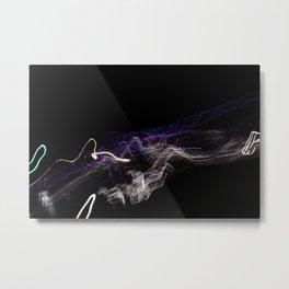 White and Purple Metal Print