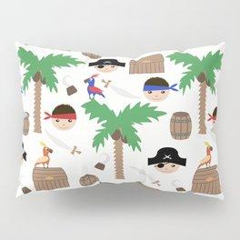 Seamless pirate colorful kids retro background pattern Pillow Sham