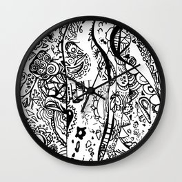 Swimming marker doodle Wall Clock