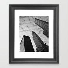 NY clouds Framed Art Print