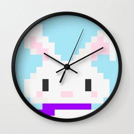 Conejo pixel Wall Clock