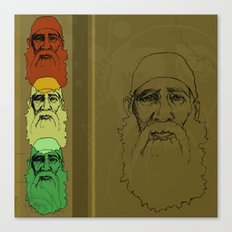 An Old Man and his Beard Canvas Print