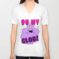 lumpy space princess V-neck T-shirts featuring Lumpy Space Princess by WaXaVeJu
