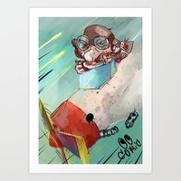 plane Art Prints featuring Plane by Alex Chystiakov