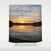 minnesota Shower Curtains featuring Minnesota Sunrise by Heartland Photography By SJW