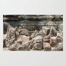 Angkor Wat, Stones in the Courtyard, Cambodia Rug