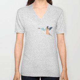 Pastel Hummingbird Unisex V-Neck