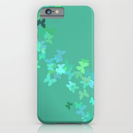 Butterfly Migration Fresh Green iPhone Case