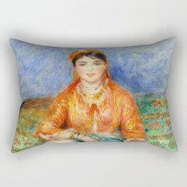 """Auguste Renoir """"Algerian girl"""" Rectangular Pillow"""
