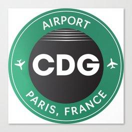 Paris CDG airport Canvas Print