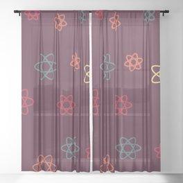 Autumnal Atoms Sheer Curtain