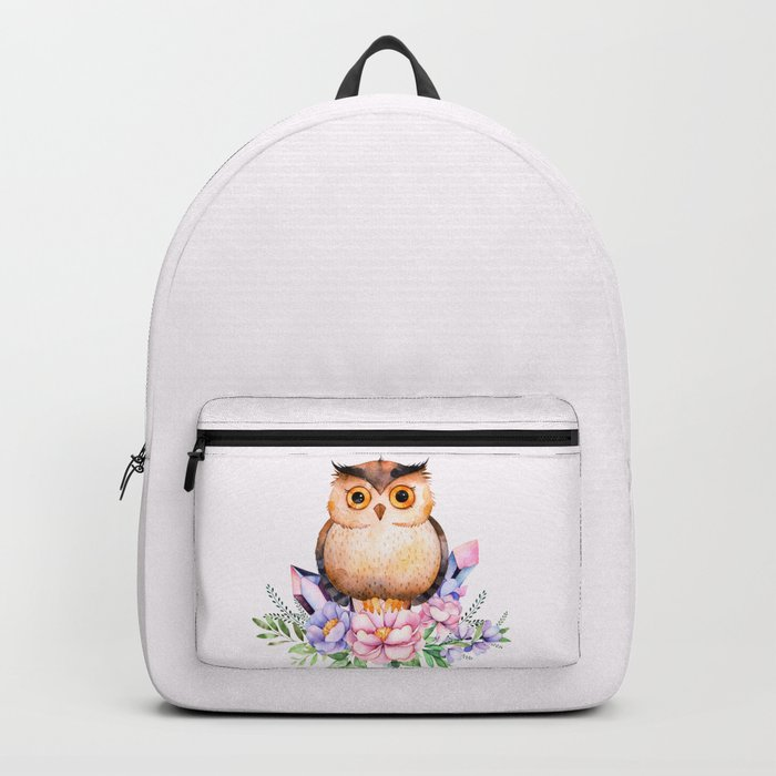 Bohomian Animal Illustration- Be Wise Little Owl Backpack