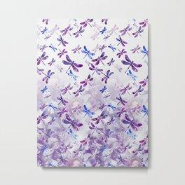 Dragonfly Lullaby in Pantone Ultraviolet Purple Metal Print