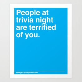 Trivia Night Art Print
