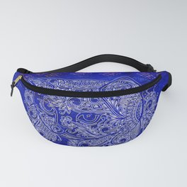 (N20) Tribal Cute Cat Hand Drawing, Traditonal Moroccan Carpet Background Fanny Pack