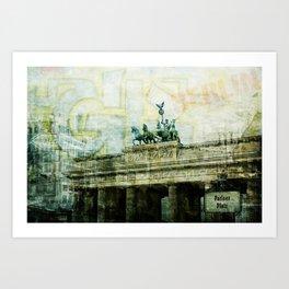berlin collage Art Print