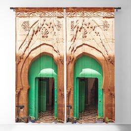 Emerald Door, Morocco Blackout Curtain