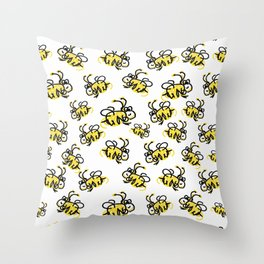 I love Bees Throw Pillow