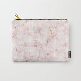 Blush Pink Abstract Marble Pattern Carry-All Pouch