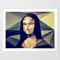 mona lisa Art Prints featuring :: mona lisa :: by Nico Vincentini