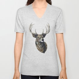 White-Tailed Deer (Color Version) Unisex V-Neck