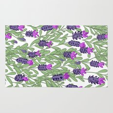 April blooms(lavender) Rug