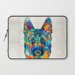 Colorful German Shepherd Dog Art By Sharon Cummings Laptop Sleeve