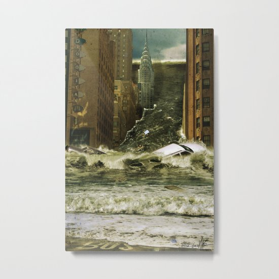 Water vs City Metal Print