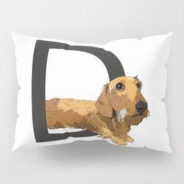 D is for Dachshund Dog Pillow Sham