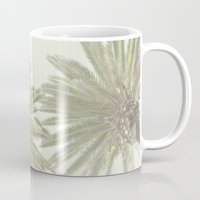 palm trees Mugs featuring Palm Trees by The ShutterbugEye