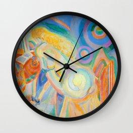 "Robert Delaunay ""Femme nue lisant (Nude Woman Reading)"" Wall Clock"