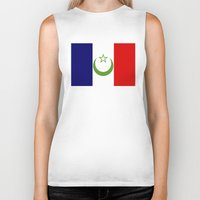 casablanca Biker Tanks featuring French Morocco flag by tony tudor