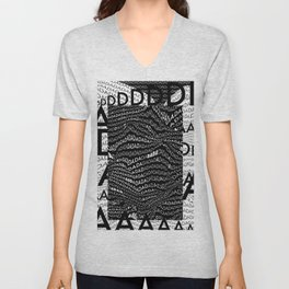 History of Art in Black and White. DADA Unisex V-Neck